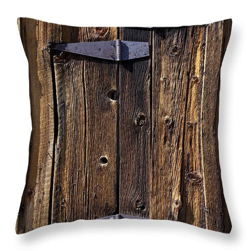 Hinges Throw Pillow featuring the photograph Hinges by Kelley King
