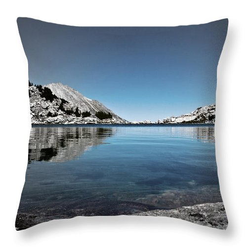 Treasure Lake Throw Pillow featuring the photograph Hint Of Treasure by Chris Brannen