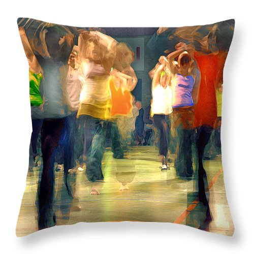 Hip Hop Throw Pillow featuring the photograph Hip Hop Dance Night by Robert Lacy