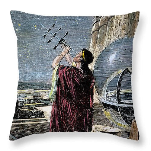 100 B.c Throw Pillow featuring the photograph Hipparchus (146-127 Bc) by Granger
