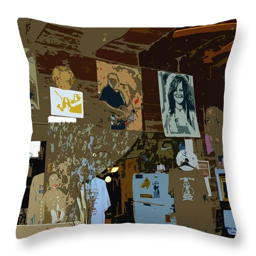 Hippies Throw Pillow featuring the painting Hippie Hang Out by David Lee Thompson