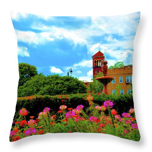 Nature Throw Pillow featuring the photograph Historic Rochester Gardens by Richard Jenkins