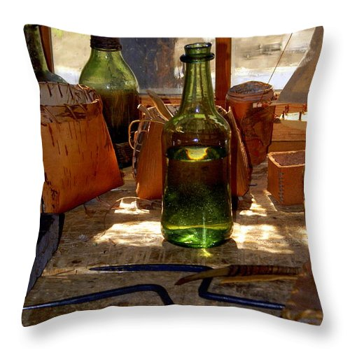 Still Life Throw Pillow featuring the photograph Historic Still Llife by Marty Koch