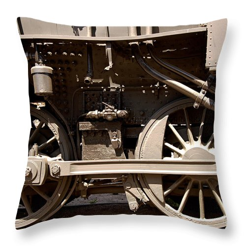 Clay Throw Pillow featuring the photograph Historic Trains by Clayton Bruster