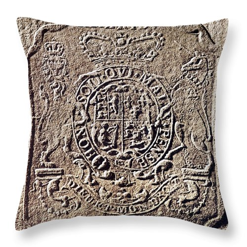 18th Century Throw Pillow featuring the photograph History Of Usa: Stamp Act by Granger