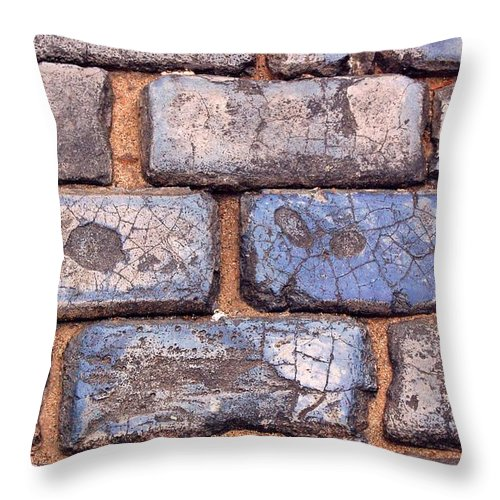 Street Throw Pillow featuring the photograph Hit The Bricks by Debbi Granruth