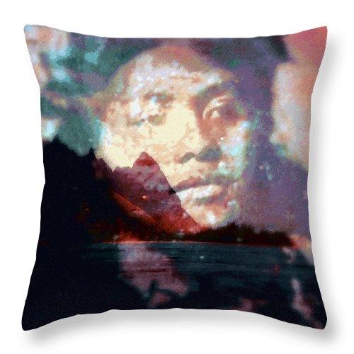 Tropical Interior Design Throw Pillow featuring the photograph Ho Okahiko by Kenneth Grzesik