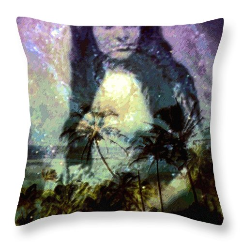 Tropical Interior Design Throw Pillow featuring the photograph Ho Omana O by Kenneth Grzesik