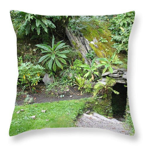 Hobbit Throw Pillow featuring the photograph Hobbit Home by Kelly Mezzapelle