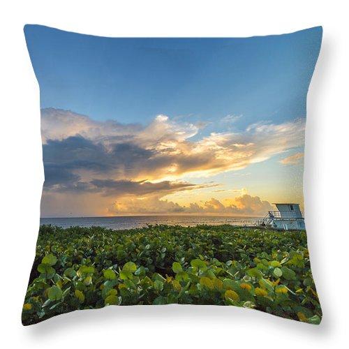 Hobe Sound Throw Pillow featuring the photograph Hobe Sound Beach Sunrise by Joshua Powell