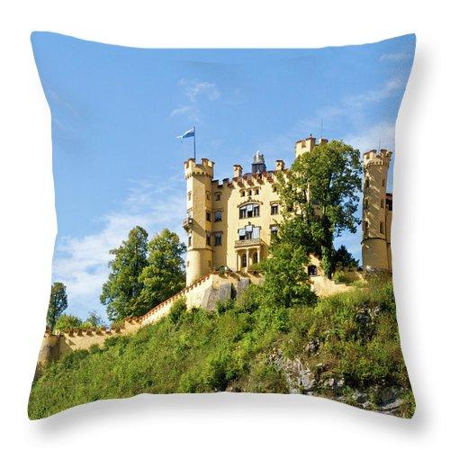 Schloss Throw Pillow featuring the photograph Holenschwangau Castle 5 by Bernard Barcos