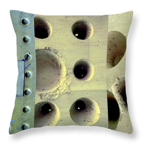 Holes Throw Pillow featuring the photograph Holey Wholes by Marlene Burns