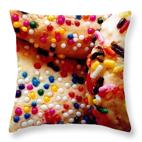 Cookie Throw Pillow featuring the photograph Holiday Cookies by Nancy Mueller