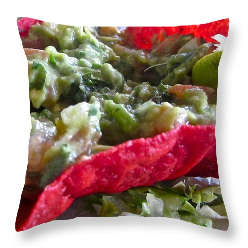 Photograph Of Quacamole Throw Pillow featuring the photograph Holiday Dip by Gwyn Newcombe