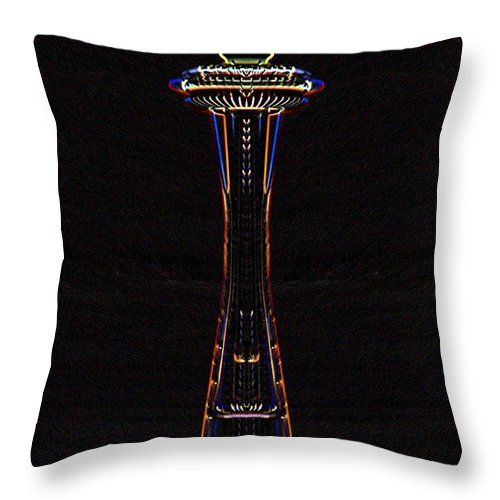Seattle Throw Pillow featuring the photograph Holiday Needle 3 by Tim Allen