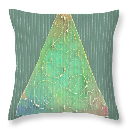 Holiday Throw Pillow featuring the digital art Holiday Tree by Arline Wagner