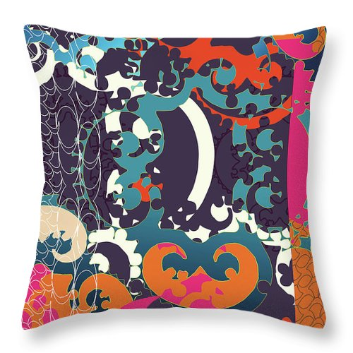 Festive Throw Pillow featuring the digital art Holiday by Ceil Diskin