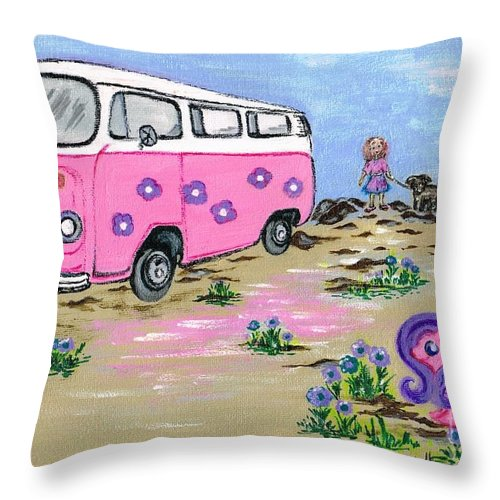 Teresa White Throw Pillow featuring the painting Holidays by Teresa White
