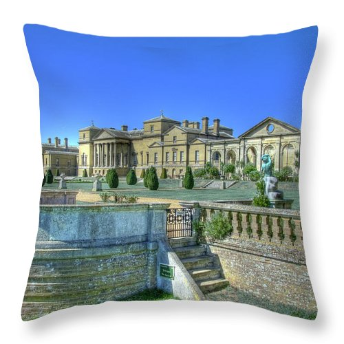 Stateley Home Throw Pillow featuring the photograph Holkham Hall by Chris Thaxter