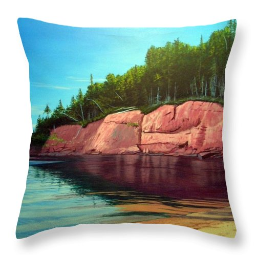 Landscape Throw Pillow featuring the painting Holland Cove by Rick Gallant