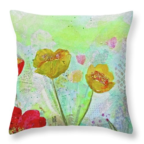 Tulip Throw Pillow featuring the painting Holland Tulip Festival II by Shadia Derbyshire