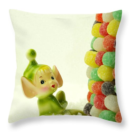 Pixie Throw Pillow featuring the photograph Holly The Pixie by Valerie Fuqua