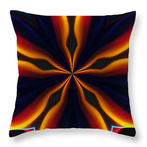 Abstract Throw Pillow featuring the digital art Homage to Georgia O'Keeffe by David Lane