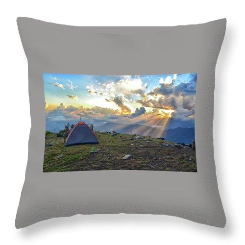 Sun Throw Pillow featuring the photograph Home Away From Home by Ryan Martin