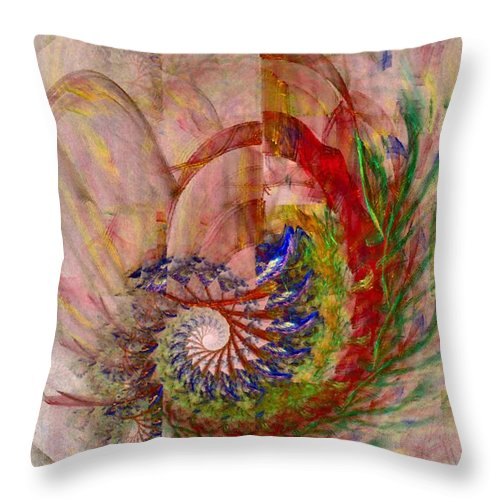 Non-representational Throw Pillow featuring the digital art Home By The Sea by NirvanaBlues