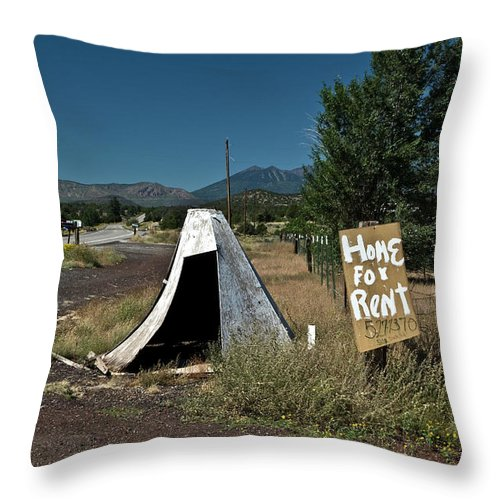 Rent Throw Pillow featuring the photograph Home For Rent by Murray Bloom