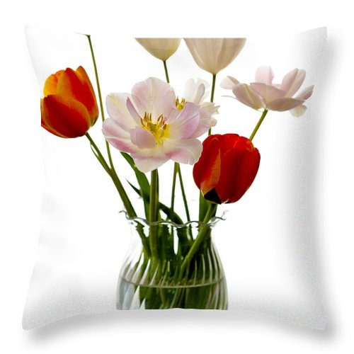 Flower Throw Pillow featuring the photograph Home Grown by Marilyn Hunt