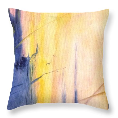 Poppy Throw Pillow featuring the painting Home II by Lord Frederick Lyle Morris - Disabled Veteran