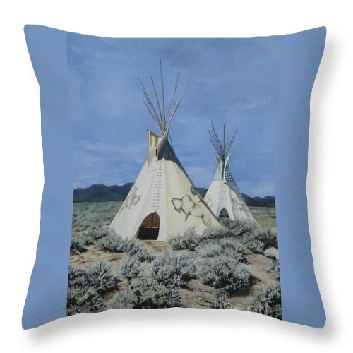 Art Throw Pillow featuring the painting Home On The Range by Mary Rogers