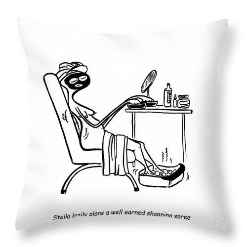 Stella Throw Pillow featuring the digital art Home Spa Savings by Leanne Wilkes