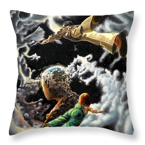 Fantasy Throw Pillow featuring the painting Homecoming by Dave Martsolf