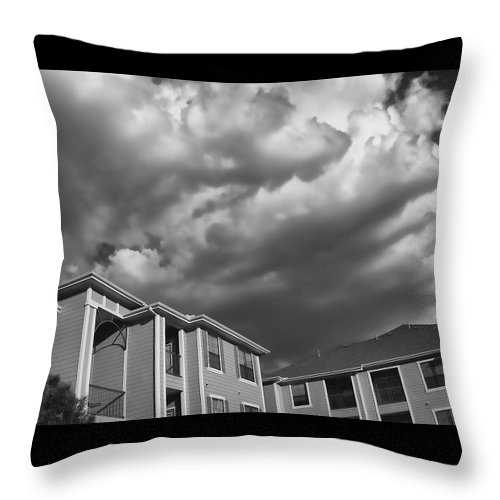 Clouds Throw Pillow featuring the photograph Homecoming - The Sequel by Wendy J St Christopher