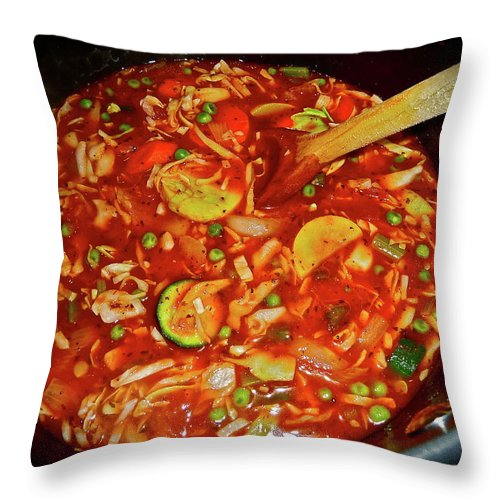 Food Throw Pillow featuring the photograph Homemade by Diana Hatcher