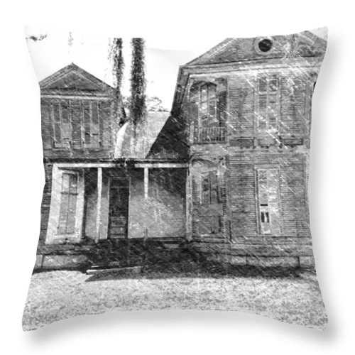 Louisiana Throw Pillow featuring the photograph Homestead 2 by Dick Goodman