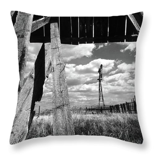 Alberta Throw Pillow featuring the photograph Homestead by Bob Christopher