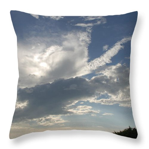 Sky Throw Pillow featuring the photograph Homestead Sky by Rob Hans