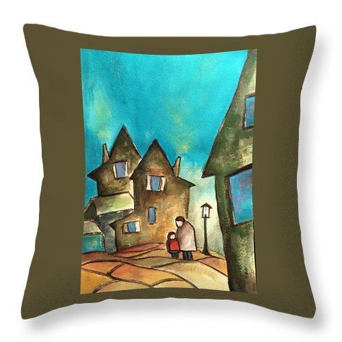 Throw Pillow featuring the painting Homeward Bound by Michael Rome