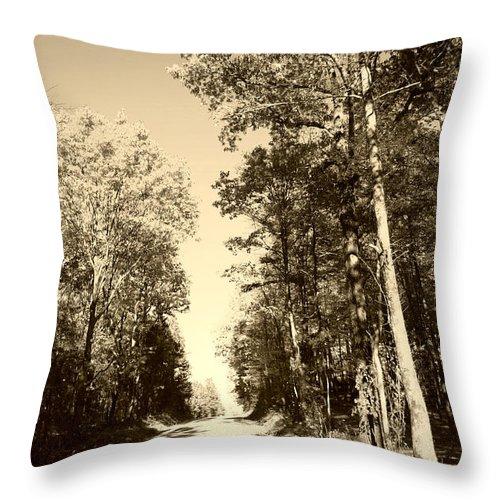Sepia Throw Pillow featuring the photograph Homeward Bound by Nina Fosdick