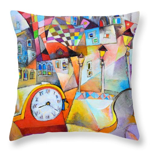 Bengez Throw Pillow featuring the painting Hommage A Paco De Lucia by Miljenko Bengez