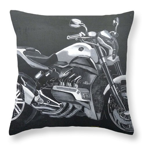 Honda Throw Pillow featuring the painting Honda Concept Evo 6 by Richard Le Page