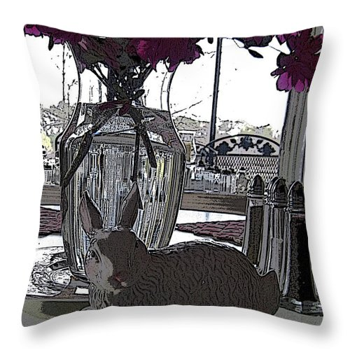 Bunny Throw Pillow featuring the photograph Honey Bunny by Shirley Sykes Bracken