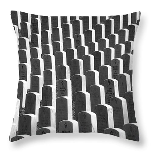 Graves Throw Pillow featuring the photograph Honor Of Heroes by Richard Rizzo