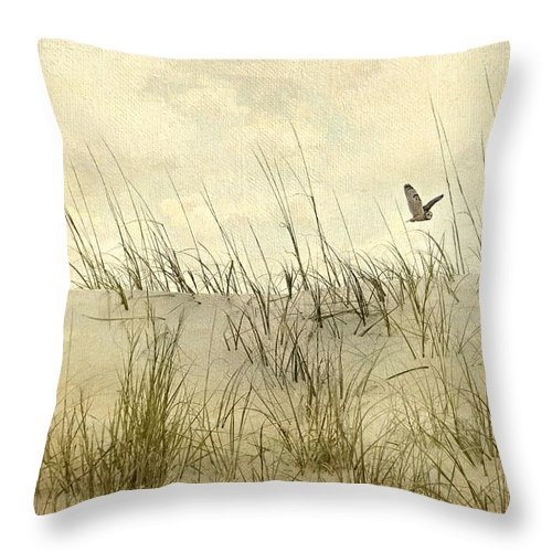 Seascape Throw Pillow featuring the photograph Hoo's Who by Diana Angstadt