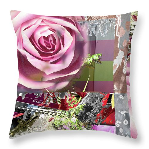 Rose Throw Pillow featuring the digital art Hope by Ceil Diskin