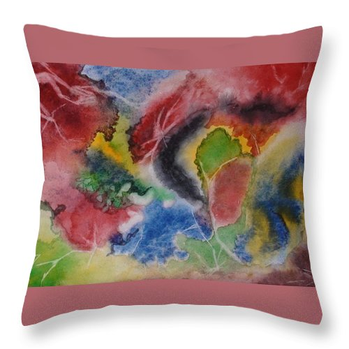 Abstract Painting Throw Pillow featuring the painting Hope Energy by Georgeta Blanaru