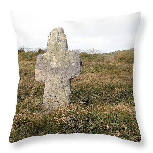 Cross Throw Pillow featuring the photograph Hope by Kelly Mezzapelle